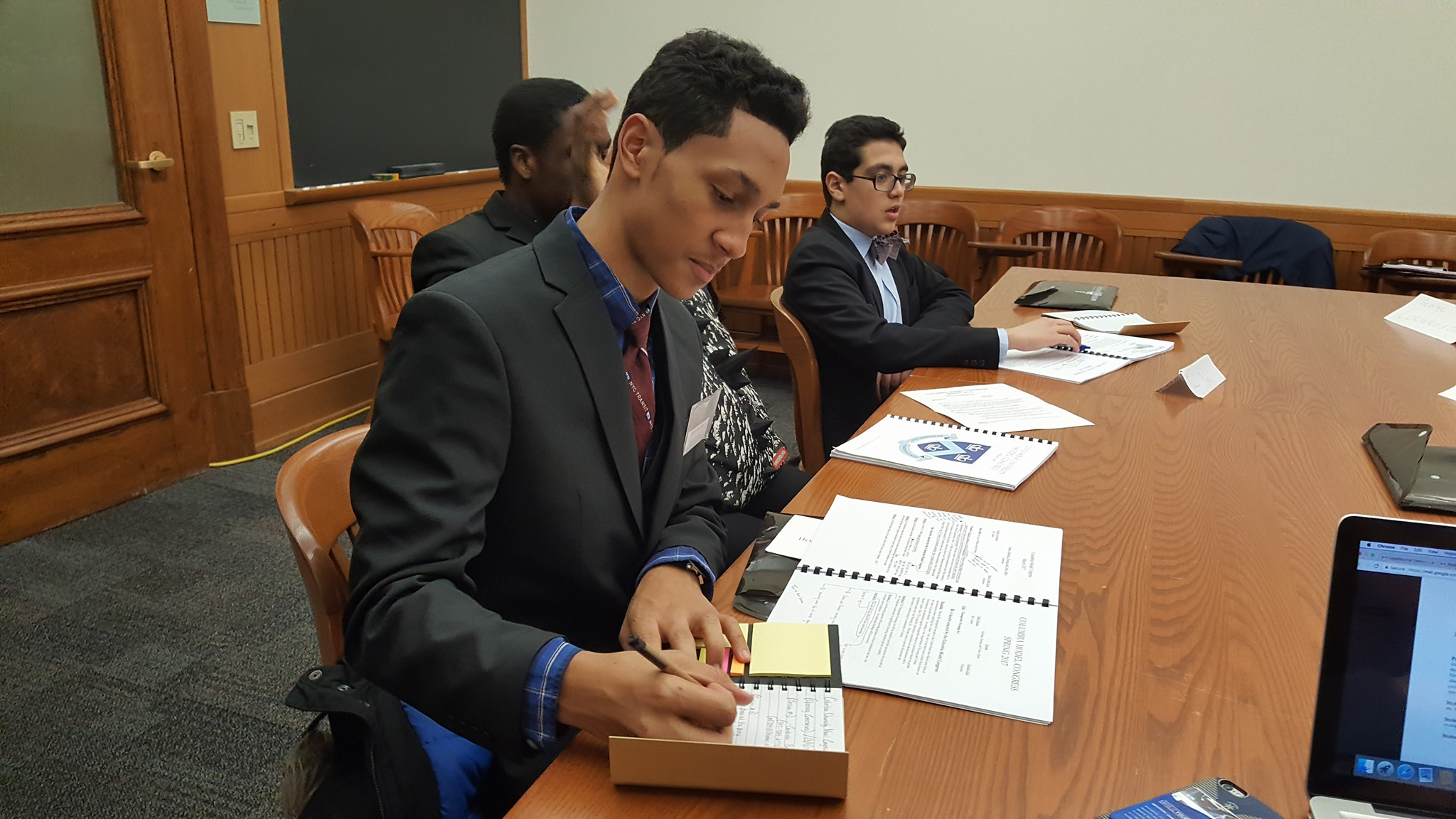 students in a legal setting